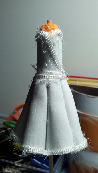 vestido de novia goma eva | el rincón de mika